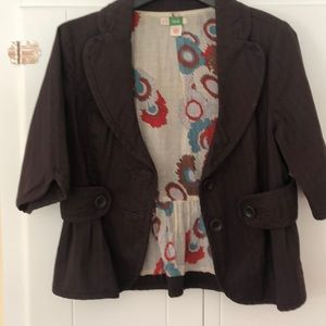 Anthropologie peplum jacket